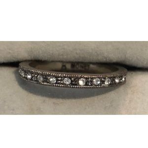 MONET Rhinestone Eternity Ring Band Size 7 1/2
